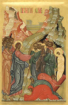 icone de la resurrection de Lazare, liturgie orthodoxe byzantine du Samedi de Lazare