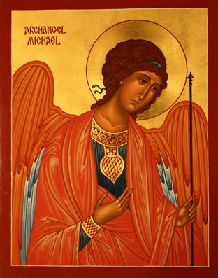 Archbishop Job's icon of the Archangel Michael in Saint Michael Church, Portage, PA.
