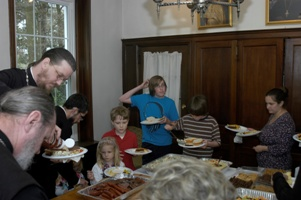 Seminarians hosted at OCA Chancery on Bright Wednesday