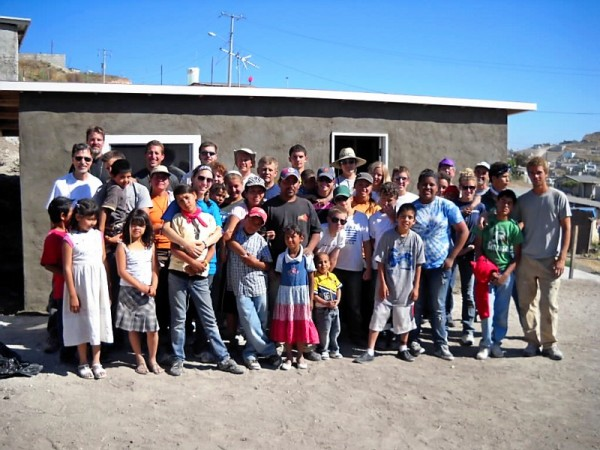 over 150 faithful build seven homes in mexico in