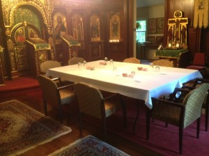 St. Sergius chapel set up for Lesser Synod meeting