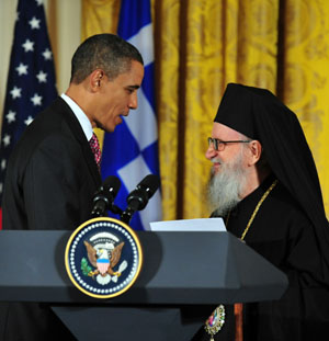 Archbishop Demetrios and President Obama