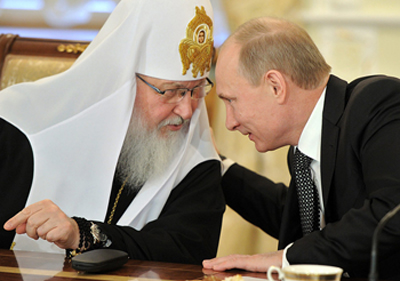 Patriarch Kirill and President Putin