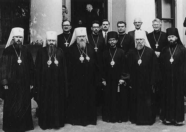 The OCA delegation with Russian hierarchs after the granting of autocephaly in April 1970.